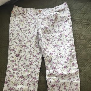 Mossimo Supply Floral Skinny Jeans